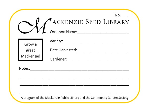 seed library envelope sample