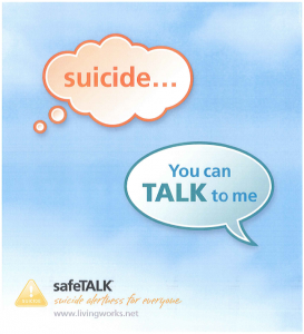 safeTALK Workshop (Suicide Awareness for Everyone) @ Mackenzie Public Library