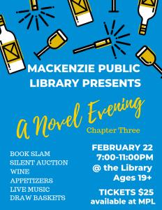 A Novel Evening: Chapter Three @ Mackenzie Public Library